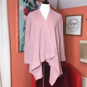 Wrap Cardigan Mauve Knit